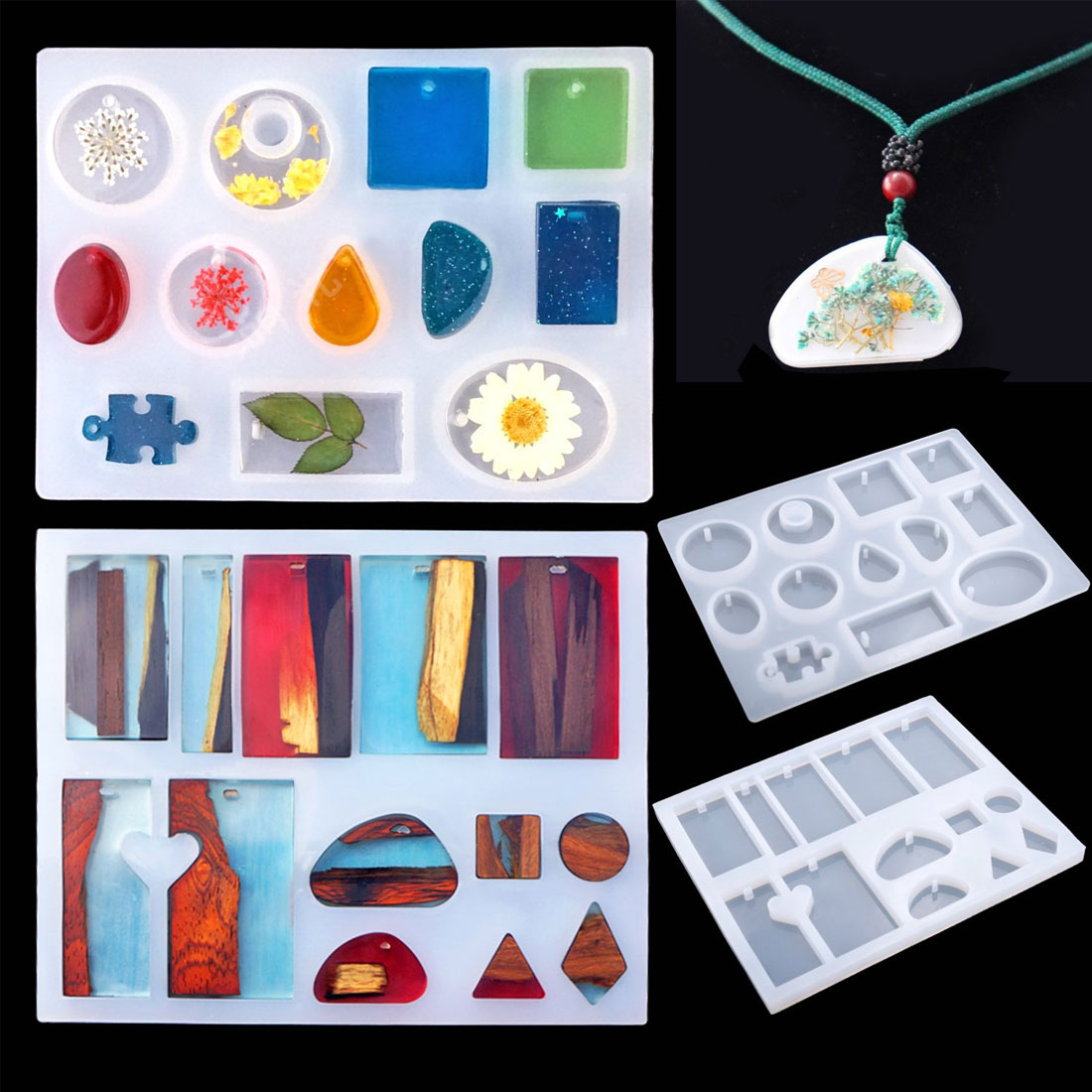 Mold suit 83 pieces of crystal glue tool DIY casting set bracelet pendant jewelry silicone mold combination with drill in Jewelry Tools Equipments from Jewelry Accessories