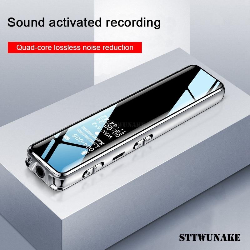 Sttwunake mini gravador de voz digital caneta de áudio ditaphone pequeno gravador de som gravação ativada por voz reunião classe