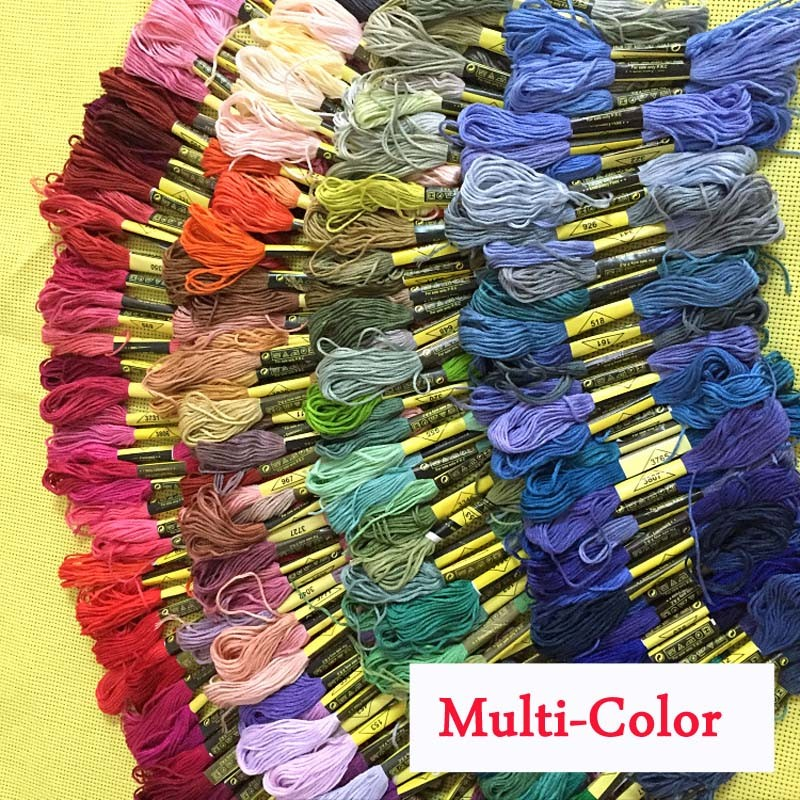 150 colores DMC similar 100% algodón Bordado Hilos kits para punto de cruz mouline 6 filamentos Hilo dental 8 M Costura madeja artesanía