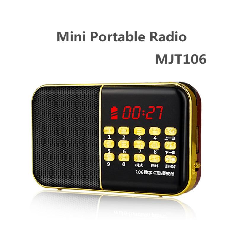 Mjt106 multifunción portátil Radios tarjeta neutral ancianos Reproductores MP3 3 en 1 altavoz soporte de tarjeta TF y USB Drive music MP3 FM Radios