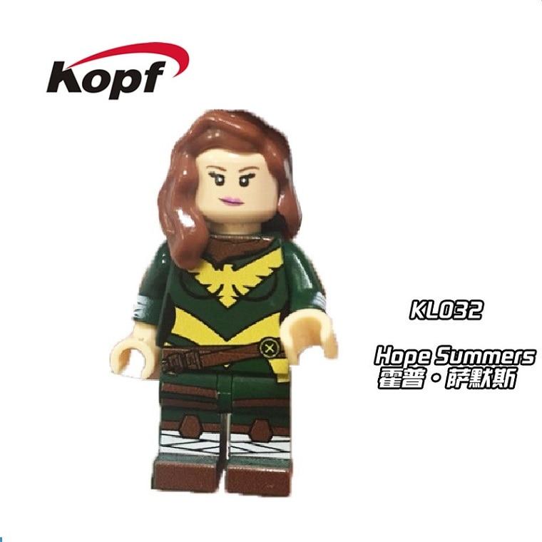 20Pcs KL032 Cute Figures Hope Summers Dazzler Deadpool Super Heroes Inhumans Royal Family Building Blocks Bricks Kids Gift Toys