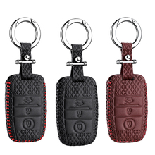 luckeasy Leather Key Cover for KIA K3 K5 SORENTO CARENS  CAR holder case key4Y