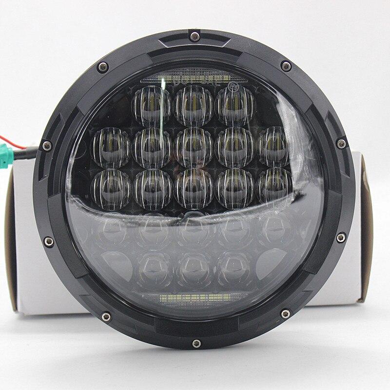 2 pcs 7 pouces Ronde 5D 126 W LED Phare avec Salut/feux de croisement avec H14 connecteur pour Jeep Wrangler 07-16