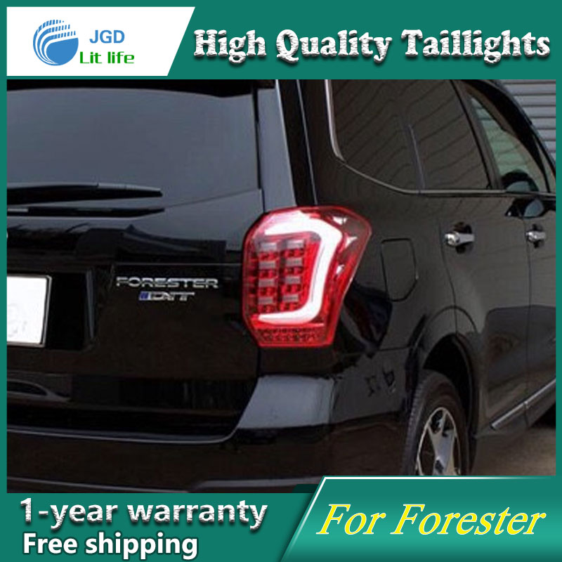Car Styling Case for Subaru Forester 2013 2014 2015 Taillights Tail lights LED Tail Lamp Rear Lamp DRL+Turn Signal+Brake+Reverse for vw volkswagen polo mk5 6r hatchback 2010 2015 car rear lights covers led drl turn signals brake reverse tail decoration