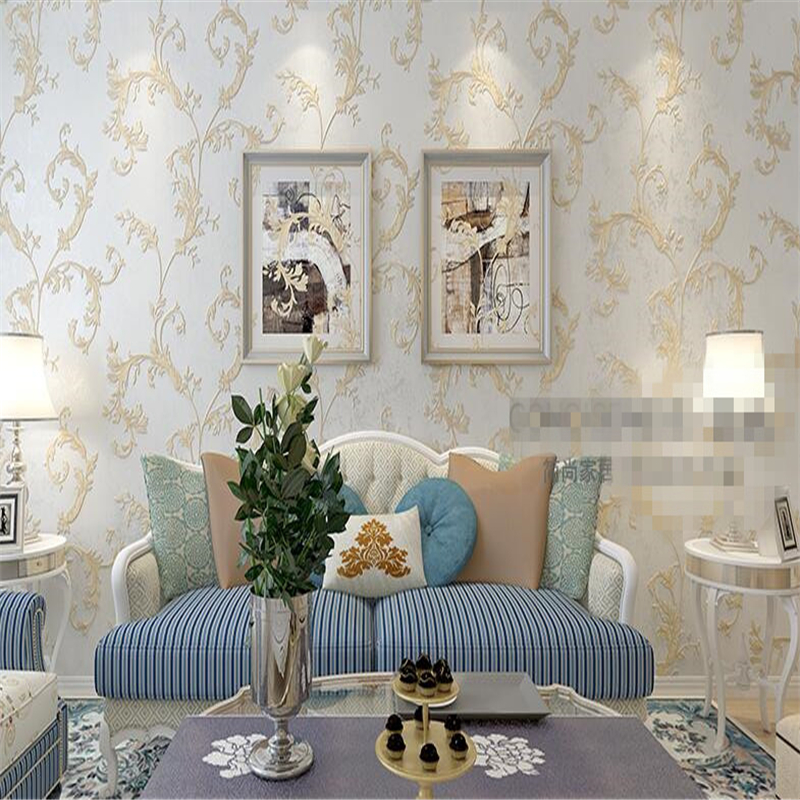 beibehang mentally Friendly Nonwovens Living Room Bedroom European Wallpapers Pastoral Mosaic Leaves American Retro Backgroundbeibehang mentally Friendly Nonwovens Living Room Bedroom European Wallpapers Pastoral Mosaic Leaves American Retro Background