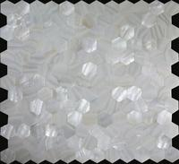 Supper white Pearl of mother mosaic shell kitchen wall tile