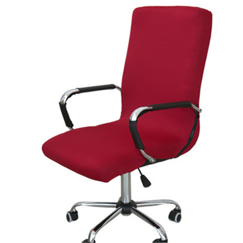 6 Colors Spandex Office Chair Cover Elastic Computer Dining Chair Cover  Washable Removable Rotating Black Red