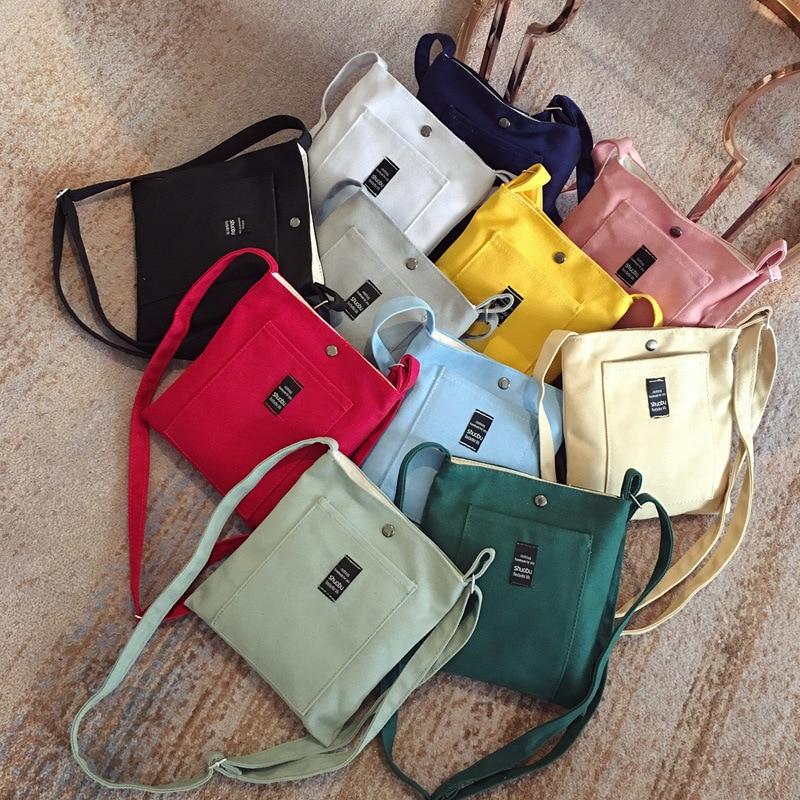 fashion letter mini women messenger bags canvas shoulder bags 2018 new arrival hasp female students girls school handbags