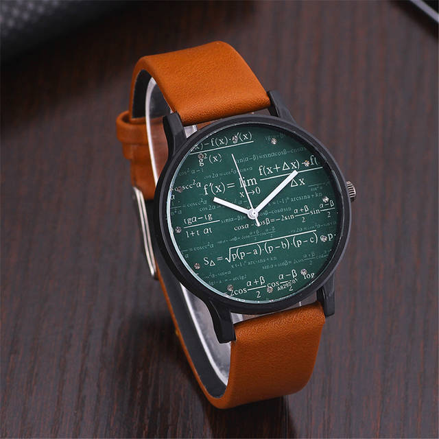 ed2a330fcc1 Students  Mathematical Geometry Equation Pattern Watch Women s Luxury  Casual Quartz Wristwatch Men Girls  Clock