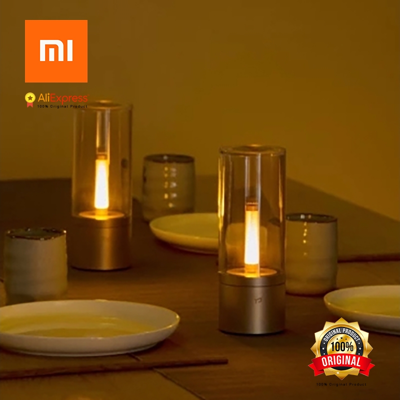xiaomi original yeelight intelligent candle lit atmosphere light stepless brightness adjustment multi lamp ylfw01yl bluetooth in smart remote control from - Lit Original