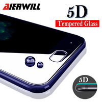 Aierwill 5D Curved Screen Protector For Xiaomi Mi6 MI 6 Tempered Glass 5D Edge Full Cover