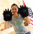 Wolves Gloves Black Bear Claw Plush Toys Warm Hand Birthday Gifts