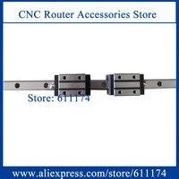 Taiwan PMI Linear guide rail MSA20 R 1000mm + 2pcs MSA20S N Linear guide bearings