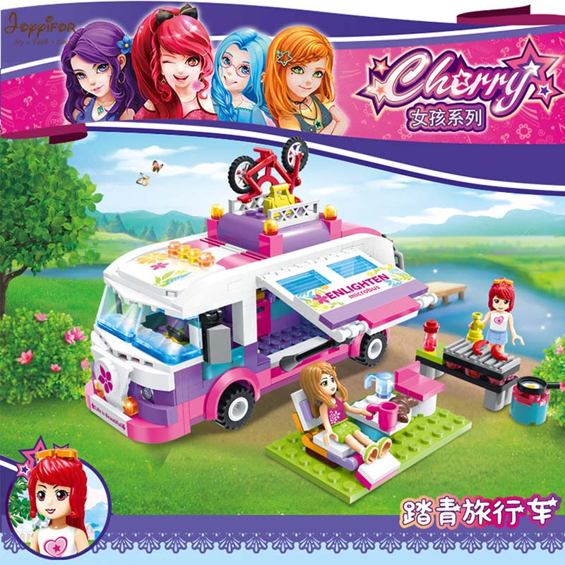 Joyyifor Girl Series Drive a car Take a picnic LegoINGlys Building Blocks Toys Best Gift To Children YN061918004
