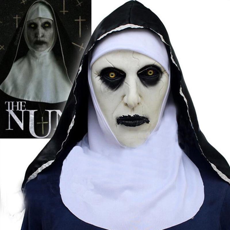 Women the Nun 2018 film Valak cosplay costume robe Halloween horror costume toys
