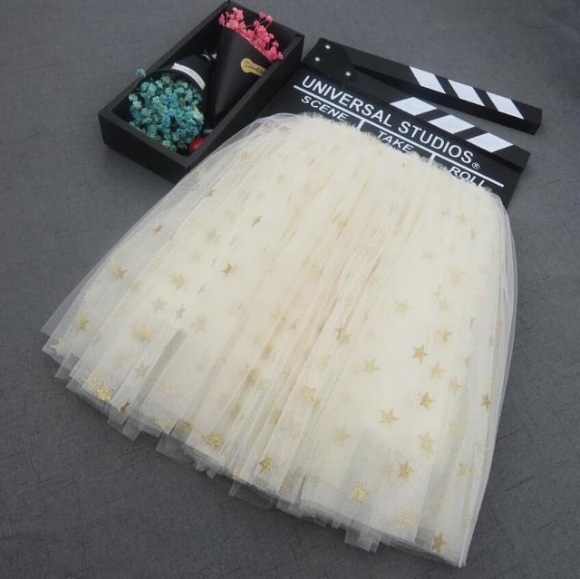 2018 Hotest Glitter Girls Ballet Tutu Baby Shiny Sequined Stars Girls Dance Skirts Child Skirts Girls Fluffy Long Pettiskrit
