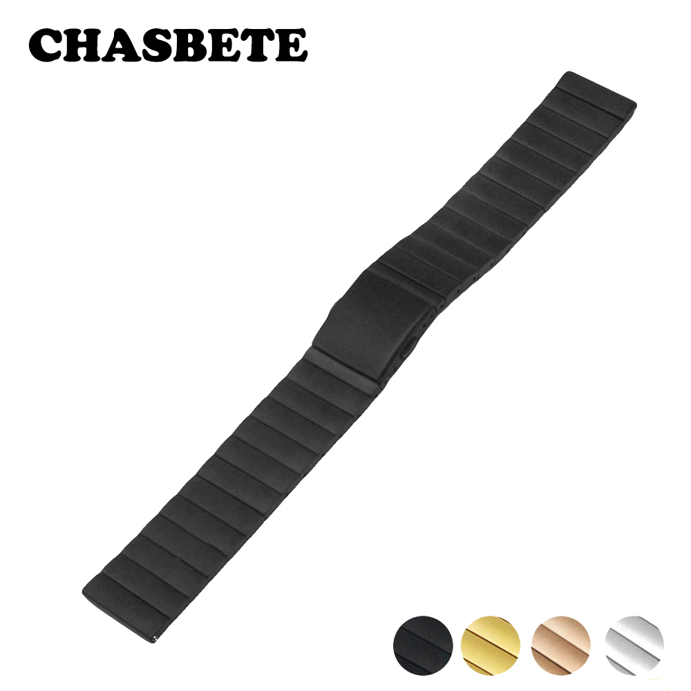 22mm 23mm Stainless Steel Watch Band for Fossil Watchband Metal Quick Release Belt Bracelet Strap Wrist Loop Black Silver Gold stainless steel watch band 22mm for movado strap wrist loop belt bracelet black silver spring bar tool