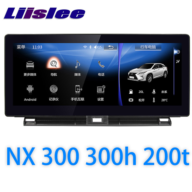 LiisLee Car Multimedia GPS Audio Radio Stereo For Lexus NX NX200 NX300 NX300h NX200t 2014~2018 Original Style Navigation NAVI
