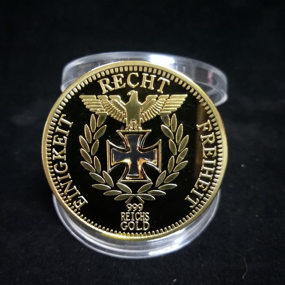1891-1944 год, немецкие медали Второй мировой войны, позолоченные армейские памятные монеты Erwin Rommel для сувениров