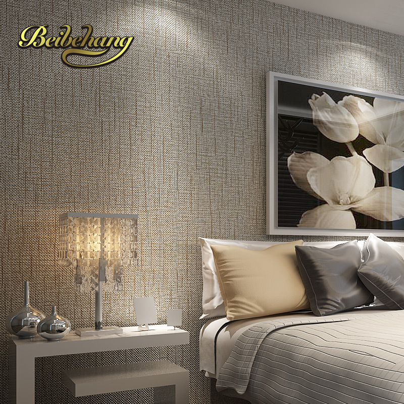 beibehang non-woven roll American straw texture wallpaper for living room bedroom backdrop papel parede 3d wall paper for walls