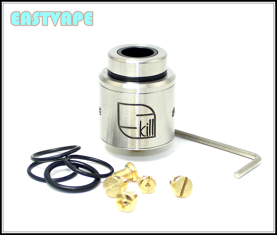 SXK Skill RDA Atomizer Rebuildable Dripping Tank with 24mm Diameter 2 Post Airflow Control Peek Insulator suit for 510 box mod rda 3d atomizer
