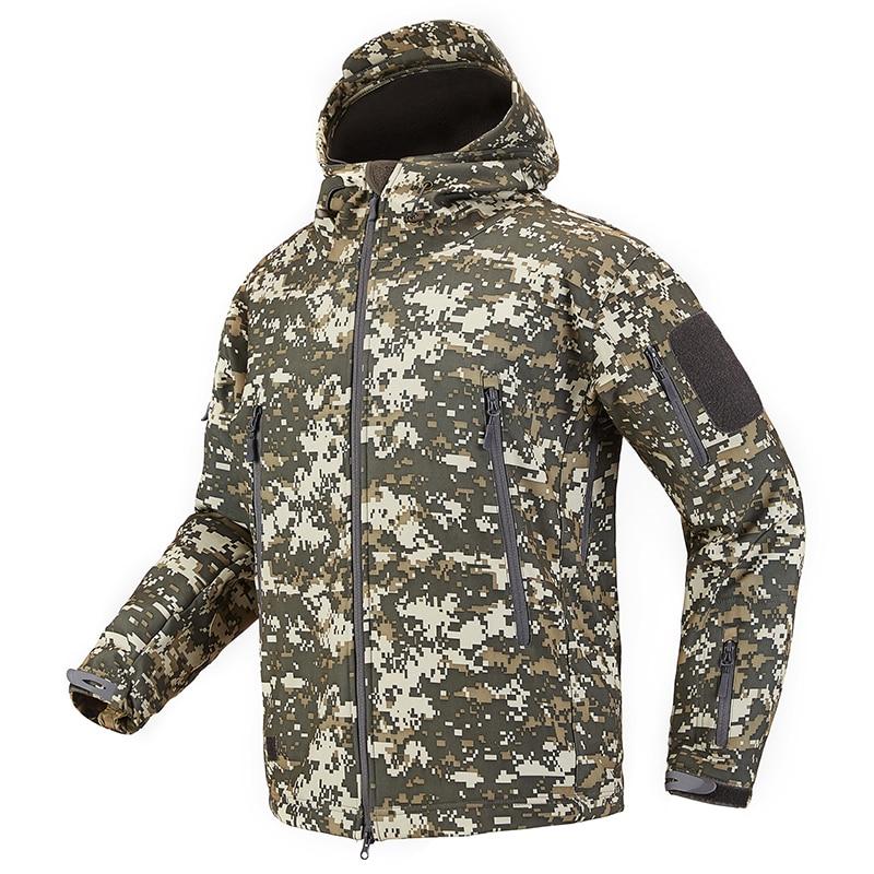 S.ARCHON Shark Skin Soft Shell Tactical Military Jacket Men Fleece Waterproof Army Clothing Multicam Camouflage Windbreakers Men 12