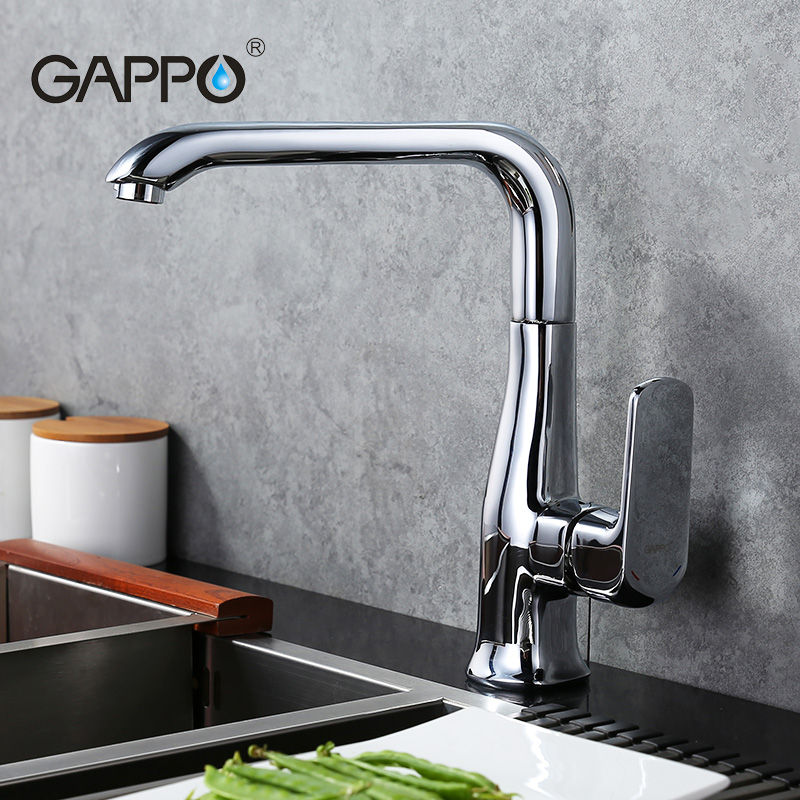 ФОТО GAPPO Luxury Style Brass Solid Kitchen Faucet Right Angle Design Single Handle Cold and Hot Water Mixer G4060