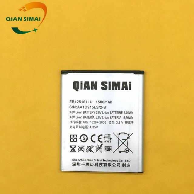 QiAN SiMAi 1PCS 2017 New 100% High Quality EB425161LU battery For Samsung Galaxy S3 mini I8190 GT-i8190 S7562  Ace 2 GT I8160