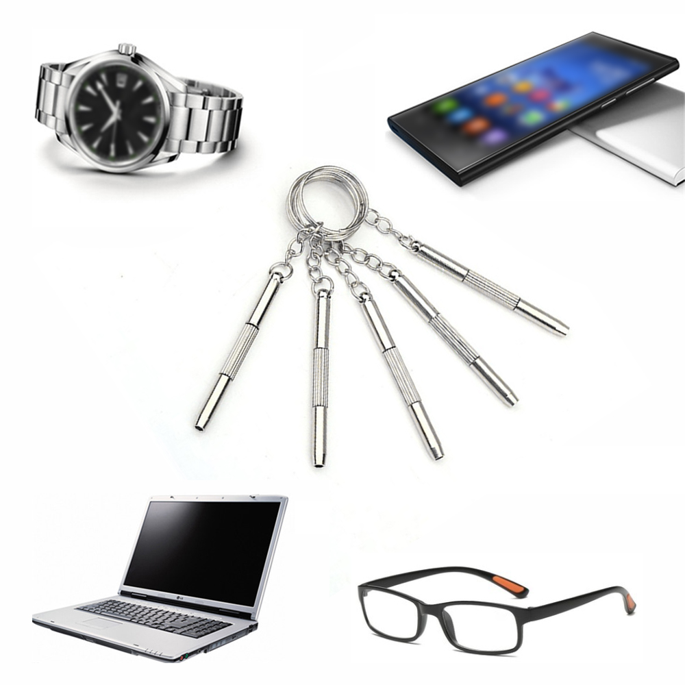 20 Pcs Mini Repair Keychain Screwdriver Tool For Home Sunglasses Eyeglass Cellphone Watch High Quality Multi-Function