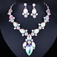 Farlena nuevo oro color austriaco cristal africano Cuentas joyería Pendientes boda Juegos de joyería para novia