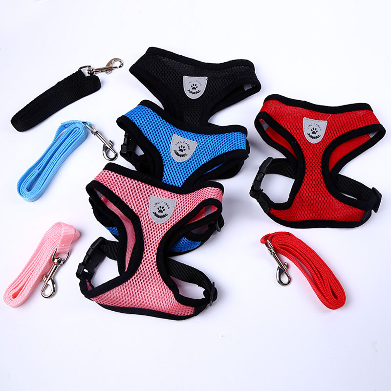 Pet vest harnesses for dog All seasons quick release Fashion small and medium-sized canine harnesses Hot sale of new 8color