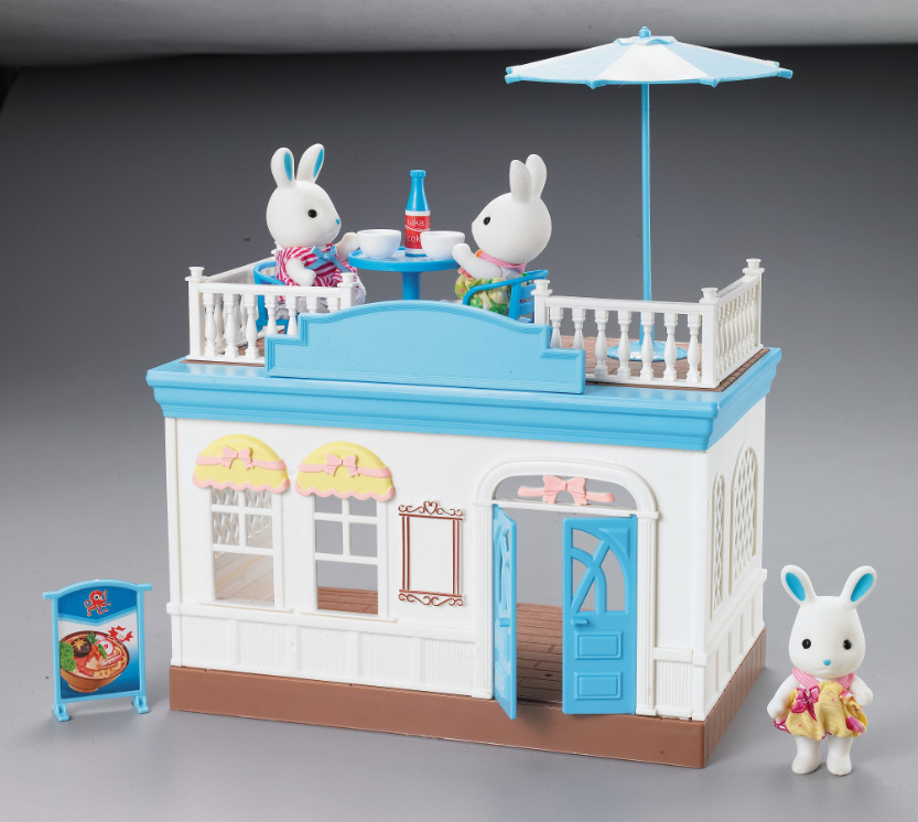 1set 30cm size Amily rabbit Sylvanian families kids play room toy with 2 doll 900gram japan play house Sylvan family doll d11 nad sylvan nad sylvan the bride said no 2 lp
