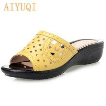 AIYUQI Women Summer Jelly Shoes Beach Sandals ,Women Hollow Designer Slippers, Flip Flops Sandalias outdoor slippers women