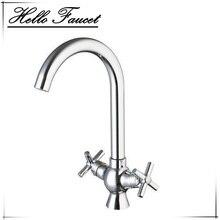 Hello Щепка Chrome Двойные ручки Soild латунь кухня torneira 8509/1 умывальник воды тщеславия сосуд туалет смеситель кран