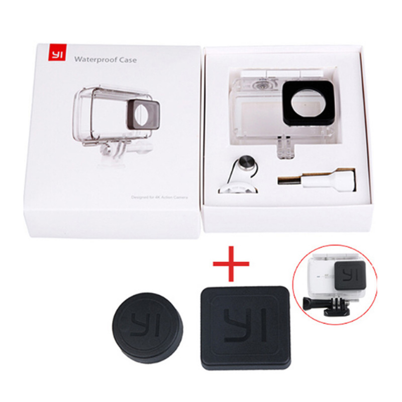 New arrival Diving Waterproof Case for Original Xiaomi YI Action Camera Housing Xiaoyi II 2 4K Case Xiao mi YI 4K 2 accessories-in Sports Camcorder Cases from Consumer Electronics