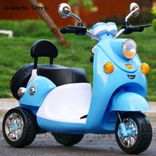 Outdoor Toys Cartoon Children Electric Motorcycle Baby Tricycle Boy Girl Toy Car Can Sit Remote Control Charging Car Music Light