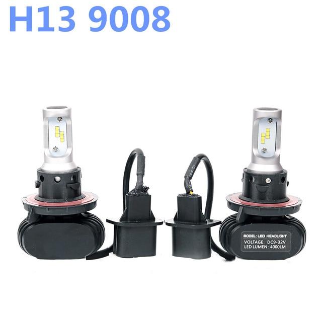 H13 9008 Led Hi Lo Beam Headlight Car HL CSP Bulb 6500K 8000LM Autos Lights Lamp For Toyota BMW X5 E39 E46 IX35 Ford Automoveis