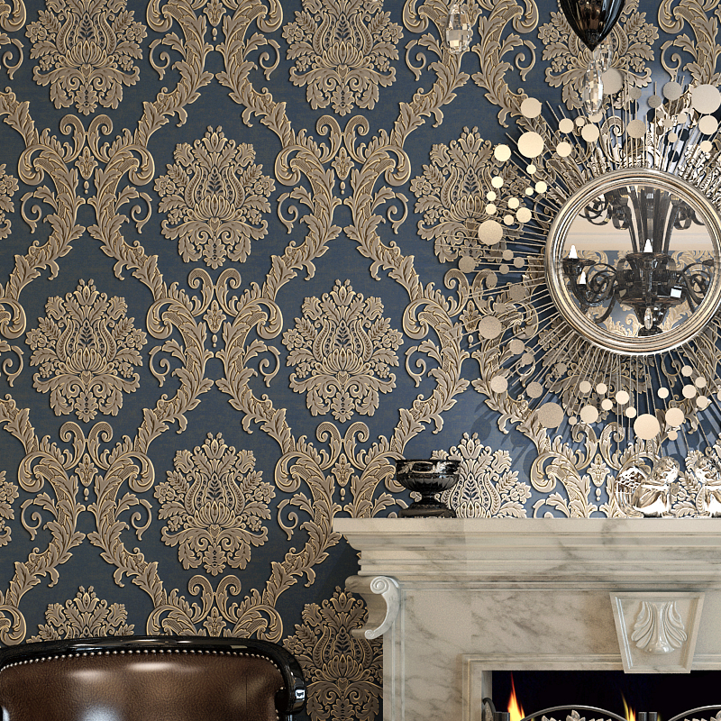 ФОТО beibehang Damask wallpaper for walls 3 d Wall paper For Living room Bedroom TV Sofa background papel de parede 3d flooring roll
