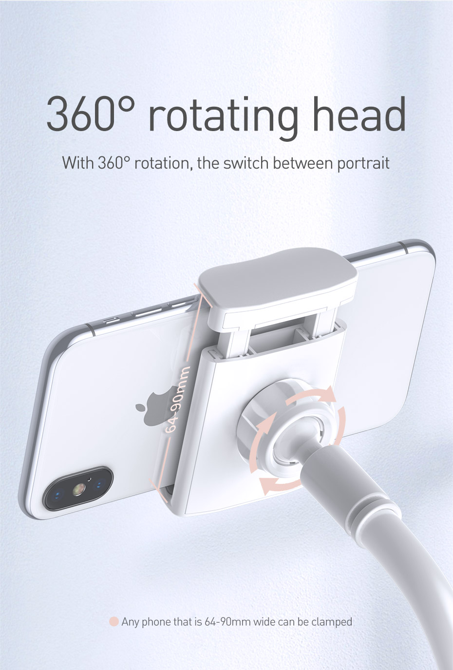 Adjustable Long Arm Lazy Phone Holder Foldable Mobile Phone Holder