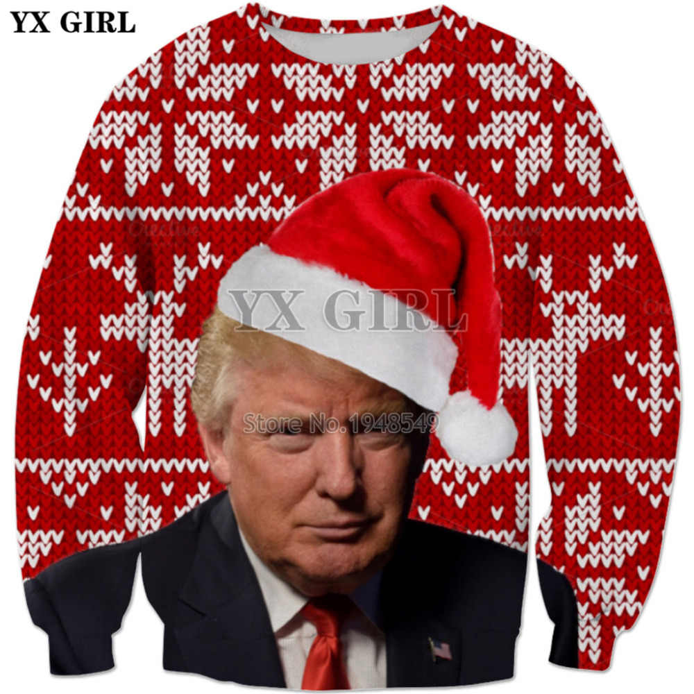 Detail Feedback Questions About Yx Girl Trump Christmas Elk Cartoon