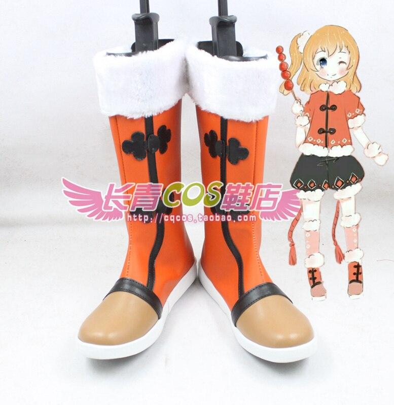 LoveLive! Honoka Kousaka cosplay Shoes Boots Custom Made 4631