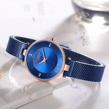 цена на Luxury Ladies Wrist Watches Women's Fashion Steel Mesh Watch CURREN Gold Watch Women Female Wristwatch Classic Quartz Clock 9031