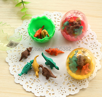 1pc/lot Cute dinosaur egg eraser Funny pencil rubber with Wholesale Price Cartoon erasers (ss-676) image