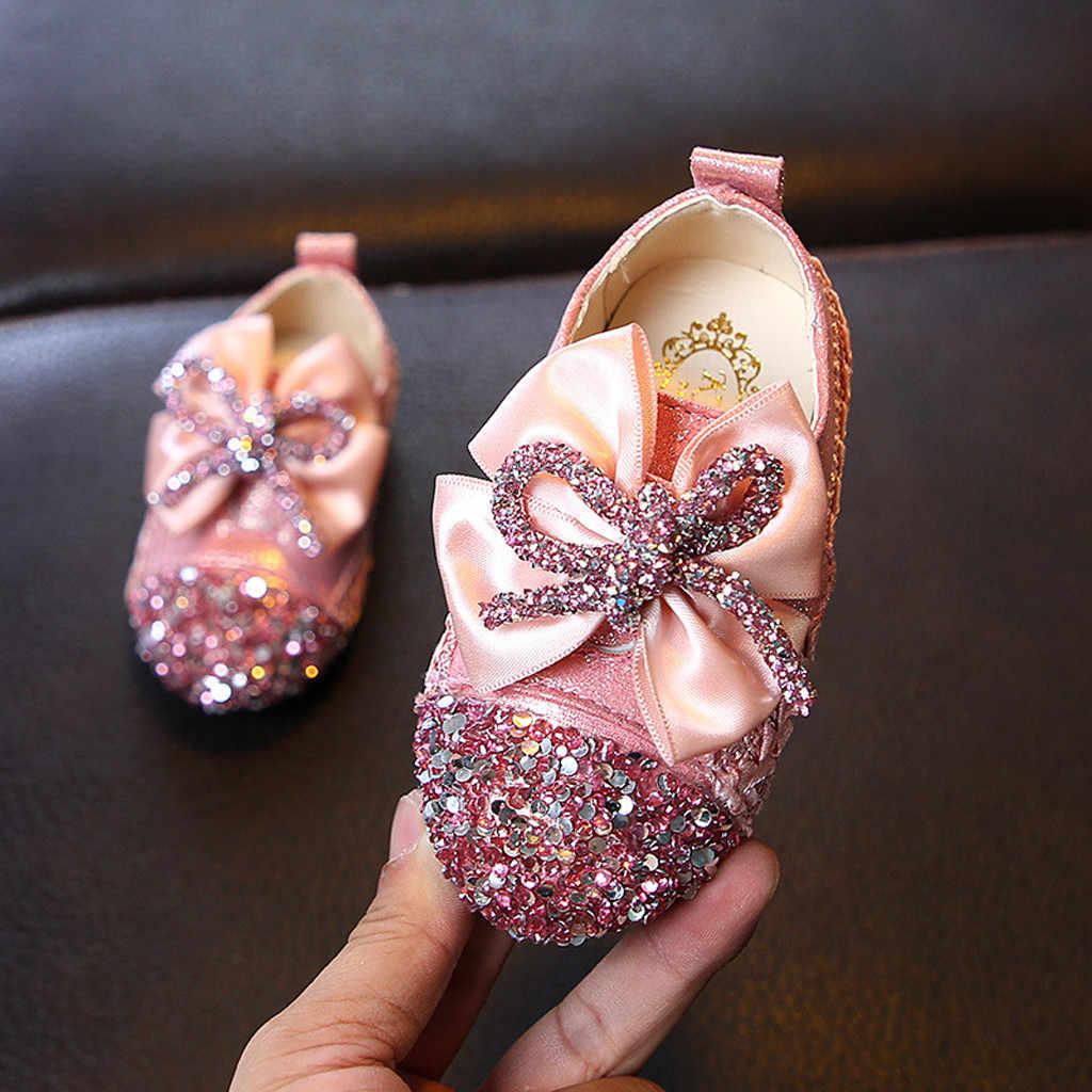 MUQGEW Kinderen Schoenen Peuter Baby Kinderen Sandalen Baby Meisjes Crystal Bling Schoen Strik Prinses Schoenen Instappers sapato infantil