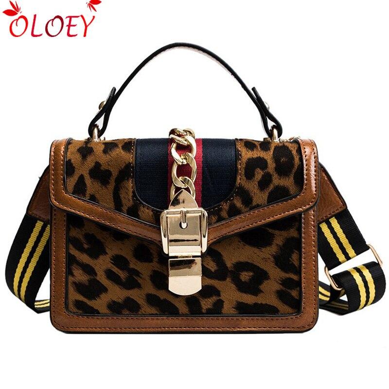 f17a209cd Bolsas para las mujeres 2018 PU bolsas de mensajero Mini cadena Casual  bolsas de leopardo de impresión de bolsas de hombro de bloqueo de Metal bolso  sac en ...