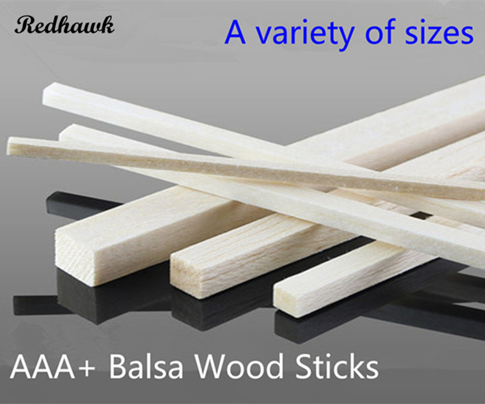 50 pcs lot 5x5 6x6 8x8mm Square long wooden bar AAA Balsa Wood Sticks Strips for