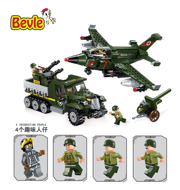 Bevle Enlighten 1710 Military Series Air Ground Battles Building Block Compatible With Lepin SWAT Toys 1710 city swat series military fighter policeman building bricks compatible lepin city toys for children