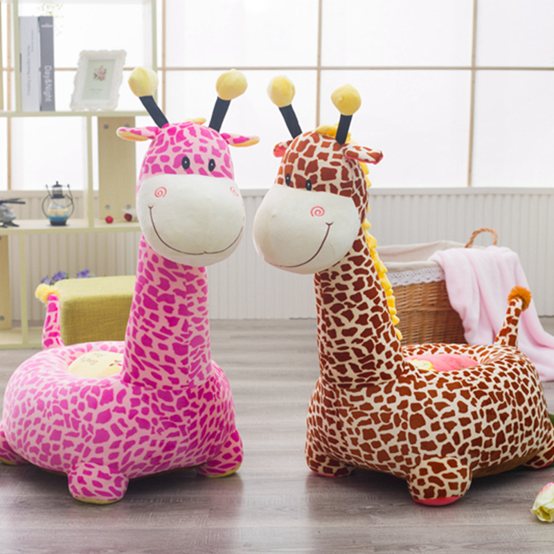 Cute Cartoon Animals Plush Toys Fun Indoor Baby Kids Sofa Chair Baby Learning Seat Chair Baby Feeding Chair Best Gift цена 2017