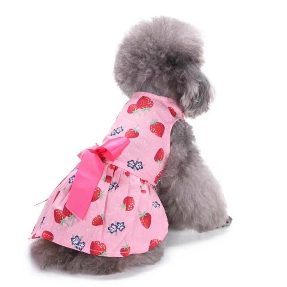 Fresa vestido de perro para perro princesa falda pequeño gato ...