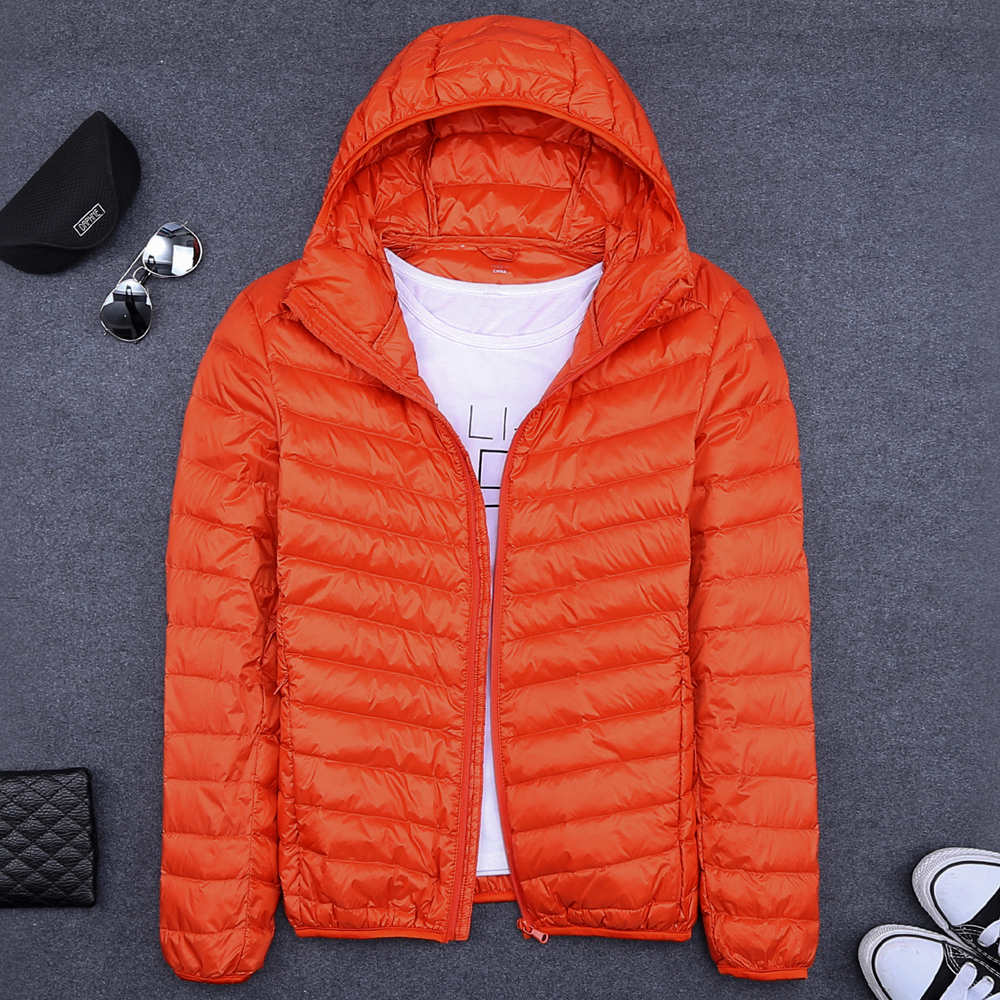 men   down   jacket winter men   down     coat   short   down     coat   light   down   outerwear ORANGE BLUE GRAY BLACK GREEN S M L XL 2XL 3XL